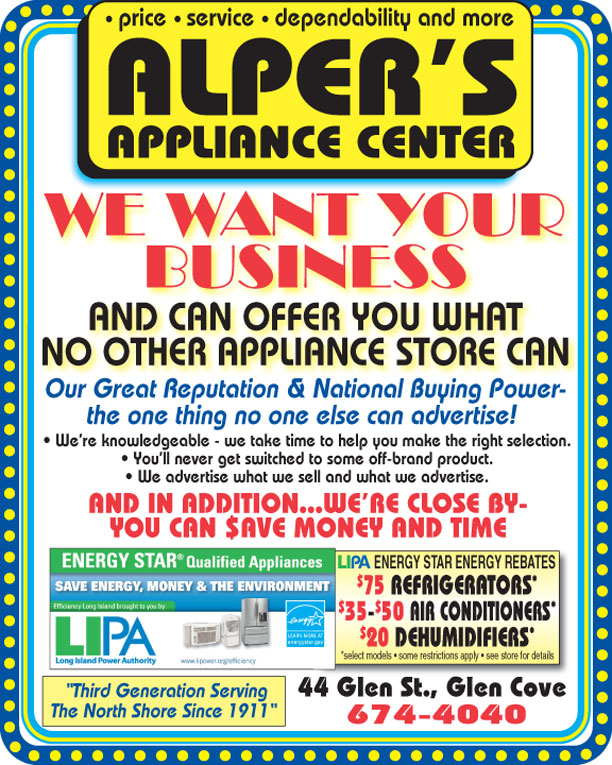 Alper's Appliance Center, Glen Cove, Long Island, NY - Monthly Offer
